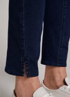 Oui-Slim-Leg-Ladies-Dark-Blue-Denim-Jeggings-With-Slit-Hem-71898-RibbonRouge