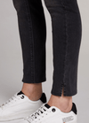 Oui-Slim-Leg-Ladies-Dark-Grey-Denim-Jeggings-71898-Slit-Hem-RibbonRouge