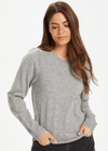Part-Two-30305564-Evinapw-Crew-Neck-Ladies-Cashmere-Jumper-In-Grey-Ribbon-Rouge