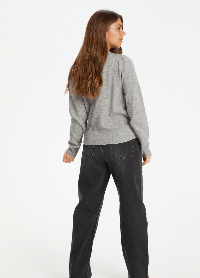 Part-Two-30305564-Evinapw-Ladies-Casual-Cashmere-Jumper-In-Grey-Fhe-Back-Ribbon-Rouge