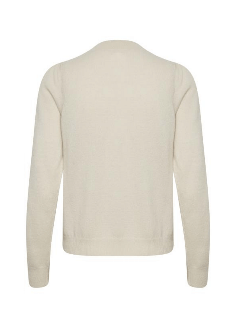 Part-Two-30305564-Evinapw-Ladies-Crew-Neck-Cashmere-Jumper-In-Cream-FromBack-Ribbon-Rouge-Online