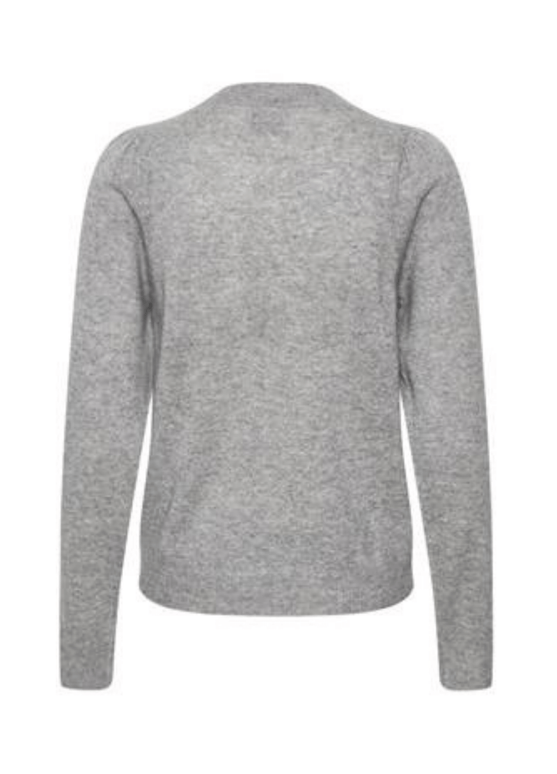 Part-Two-30305564-Evinapw-Ladies-Crew-Neck-Cashmere-Jumper-In-Grey-FromBack-Ribbon-Rouge-Online