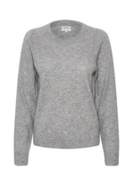 Part-Two-30305564-Evinapw-Ladies-Crew-Neck-Casual-Cashmere-Jumper-In-Grey-Ribbon-Rouge-Online