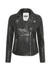 Part-Two-30305718-Frances-Biker-Style-Ladies-Black-Leather-Jacket-With-Zips-Ribbon-Rouge-Ireland