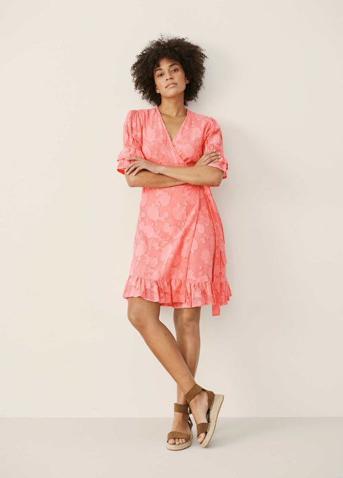 Part-Two-30306022-Peach-Blossom-Print-Womens-Summer-Wrap-Style-Dress