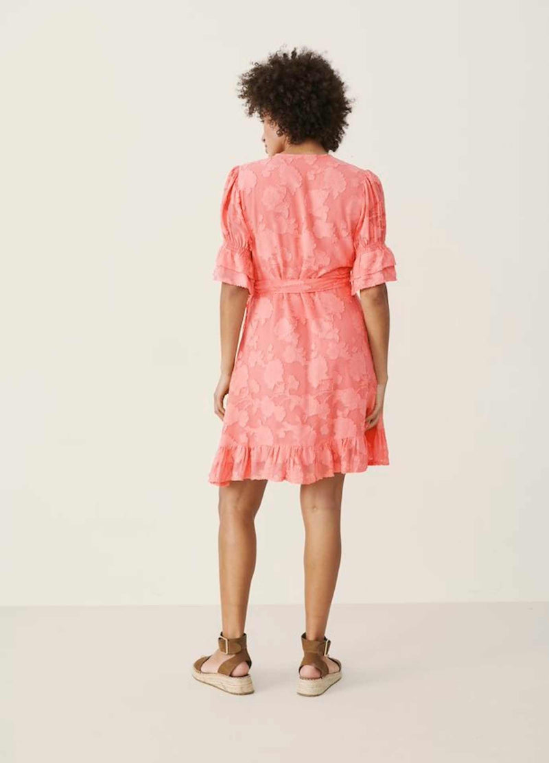 Part-Two-30306022-Peach-Blossom-Womens-Short-Sleeve-Pretty-Short-Summer-Dress-From-The-Back