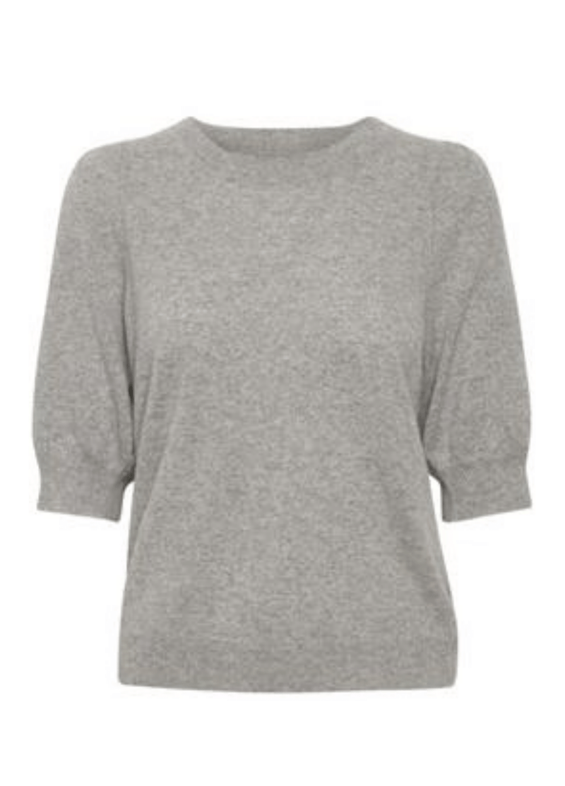 Part-Two-Elinapw-Elbow-Length-Puff-Sleeve-Grey-Cashmere-Jumper-30305828-Ribbon-RougePart-Two-Elinapw-Elbow-Length-Puff-Sleeve-Grey-Cashmere-Jumper-30305828-Ribbon-Rouge