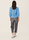 Part-Two-Gabi-Blue-Organic-Cotton-Ladies-Chunky-Knit-Jumper-From-Back-Ribbon-Rouge