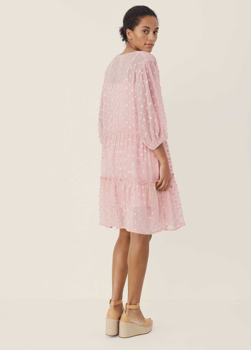 Part-Two-Hawra-Pink-Relaxed-Fit-Oversized-Dress-For-Woman-From-Back