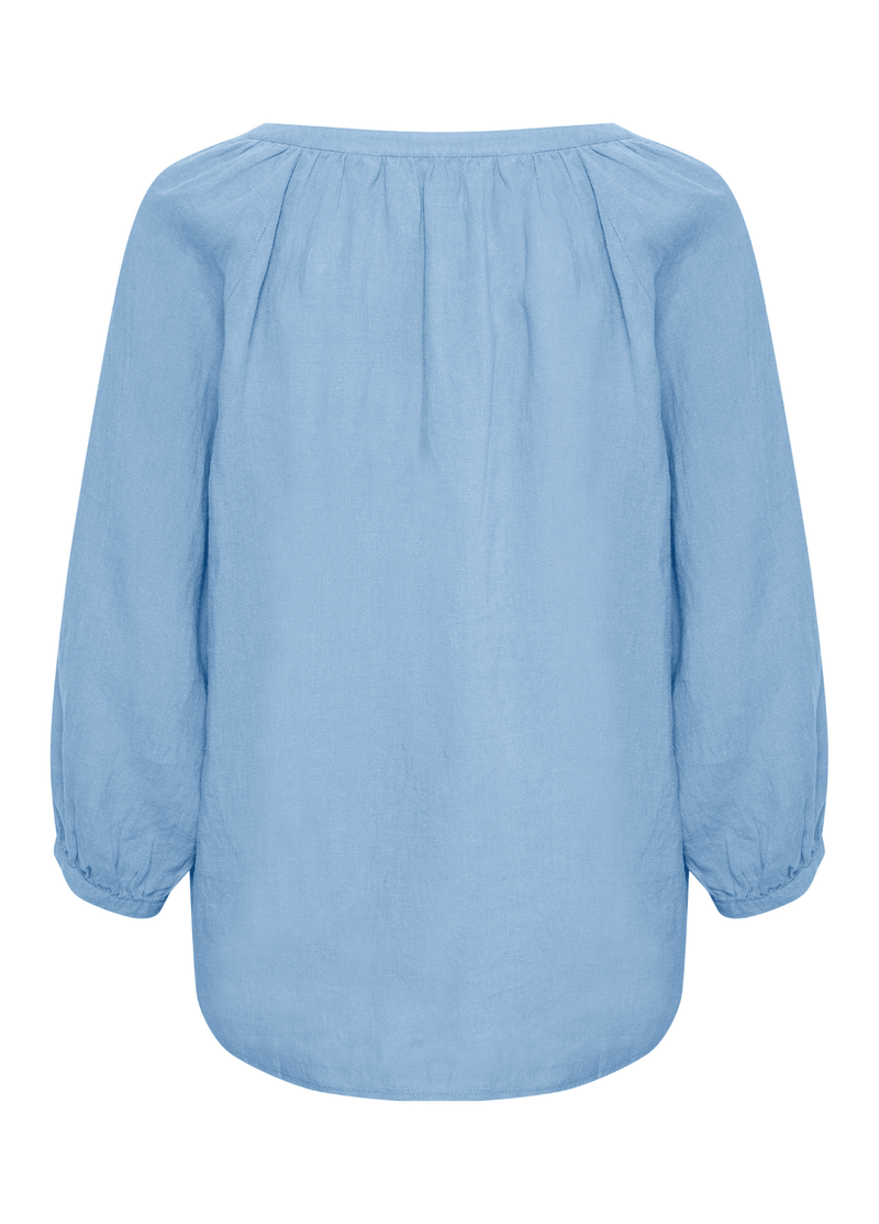 Part-Two-Hikma-Long-Sleeve-Womens-Casual-Top-In-Sky-Blue-30305893-On-Back-Ribbon-Rouge-Online