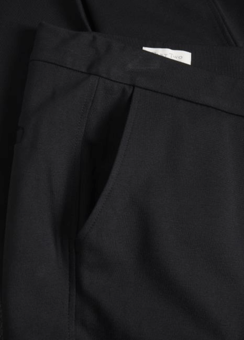 Part-Two-Mighty-Black-Womens-Trousers-Font-Boyfriend-Pockets-Ribbon-Rouge-Ireland