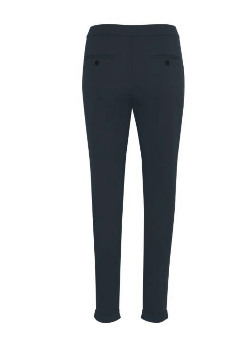Part-Two-Mighty-Navy-Womens-Trousers-With-Turn-Ups-From-The-Back-Ribbon-Rouge-Ireland