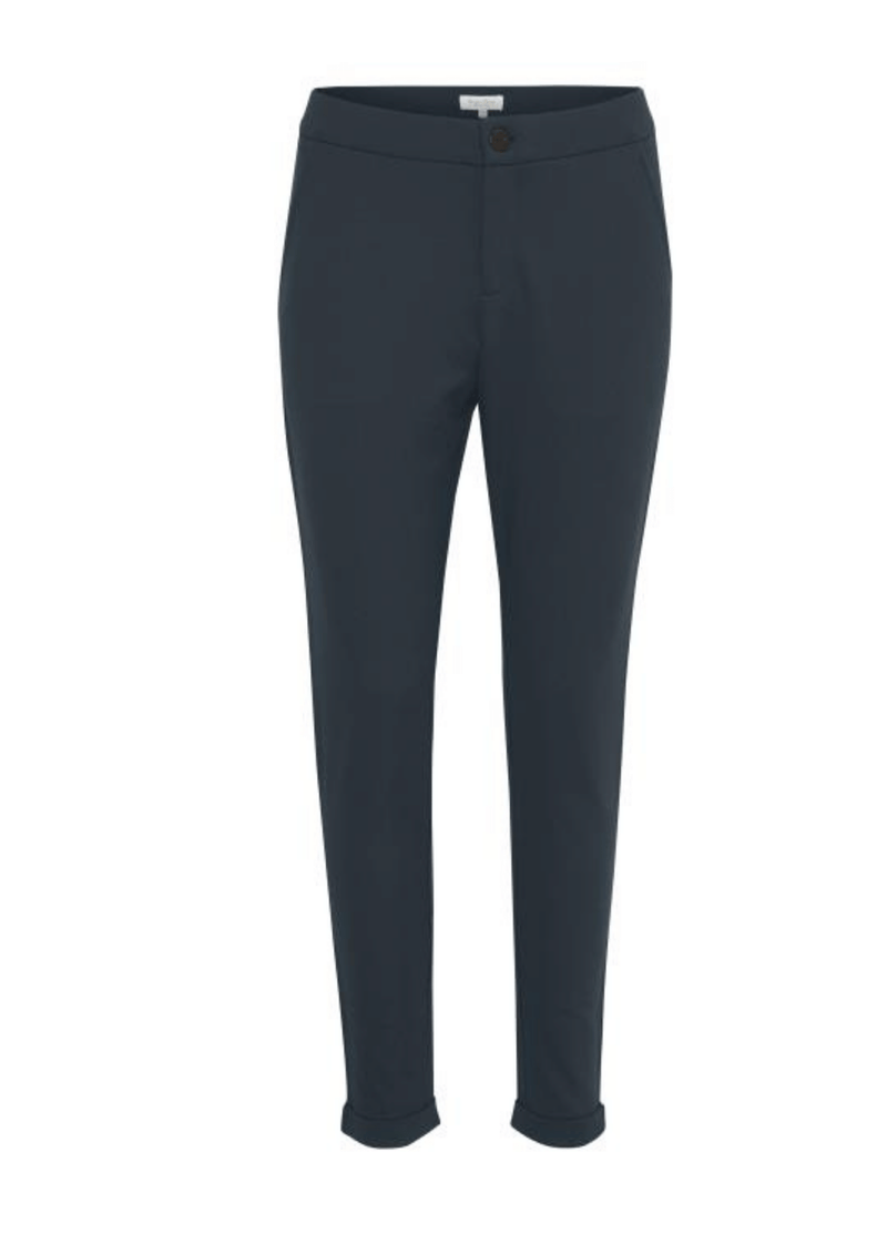 Part-Two-Mighty-Navy-Womens-Trousers-With-Turn-Ups-Ribbon-Rouge-Ireland