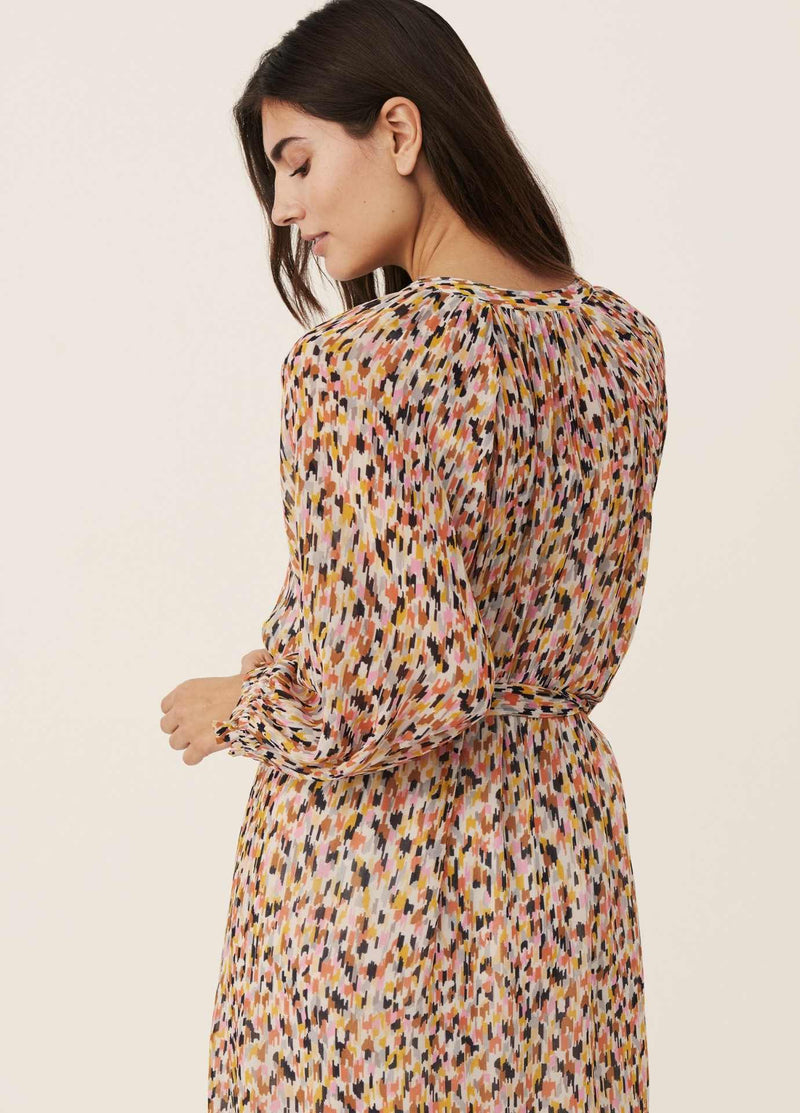 Part-Two-Multi-colour-Print-Long-Womens-Dress-Relaxed-fit-From-Back