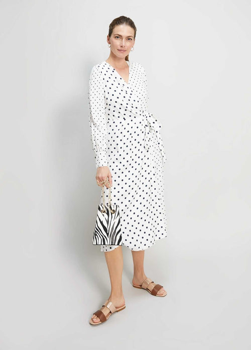 Penny Black Consumo Womens Polka Dot Midi Wrap Dress