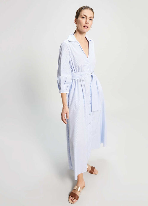 Penny-Black-Dipinto-Light-Blue-Poplin-Womens-Cotton-Shirt-Dress