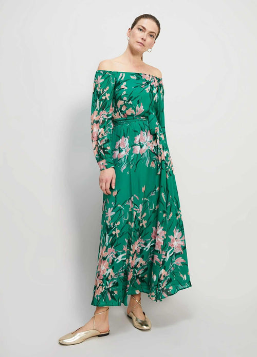 Penny-Black-Spiaggia-Womens-Green-And-Pink-Georgette-Maxi-Dress