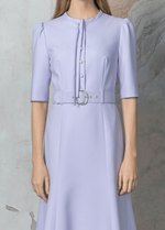 Birelin Belted Ladies Lilac Dress - Ribbon Rouge Boutiques