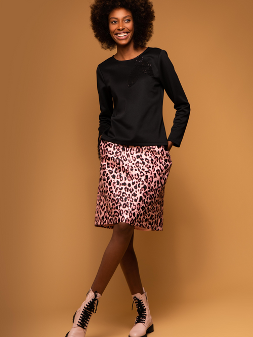 Sisters by Caroline Kilkenny Lucy Pink Animal Print Skirt - Ribbon Rouge Boutiques