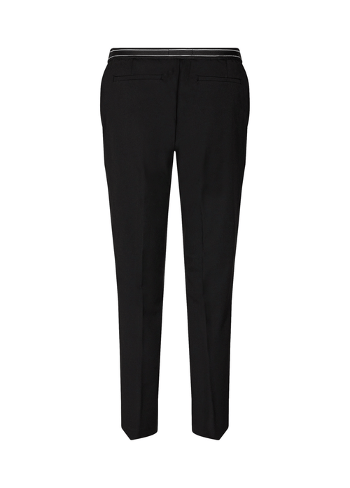 Soya-Concept-Nura-Black-ladies-Trousers-Back-Ribbon-Rouge