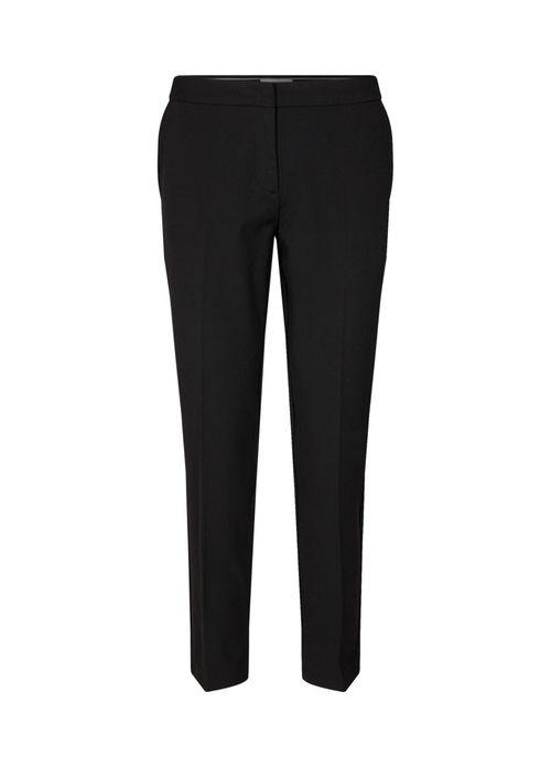 Soya-Concept-Nura-Ladies-Black-Trousers-Front-Ribbon-Rouge
