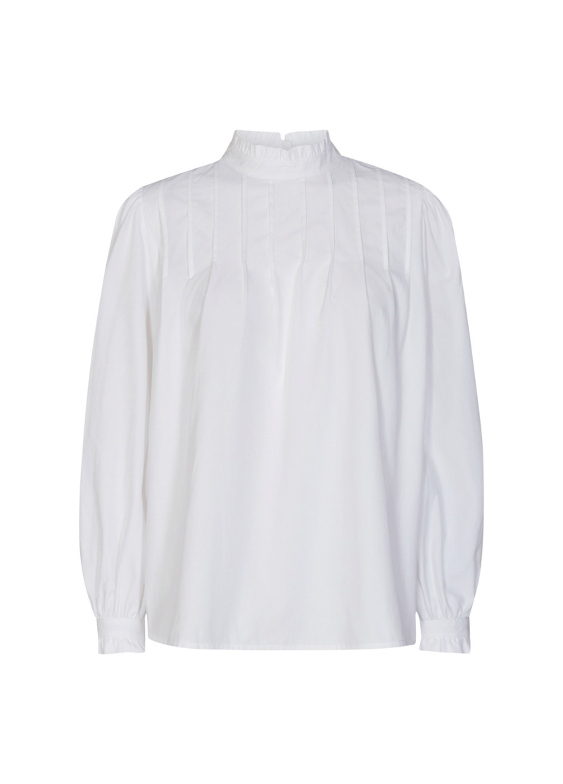 Soya-concept-17148-Nettie-womens-white-blouse-Ribbon-Rouge