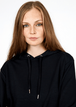 SoyaConcept Banu Soft Ladies Casual Hoodie Jumper With String Details  - Ribbon Rouge