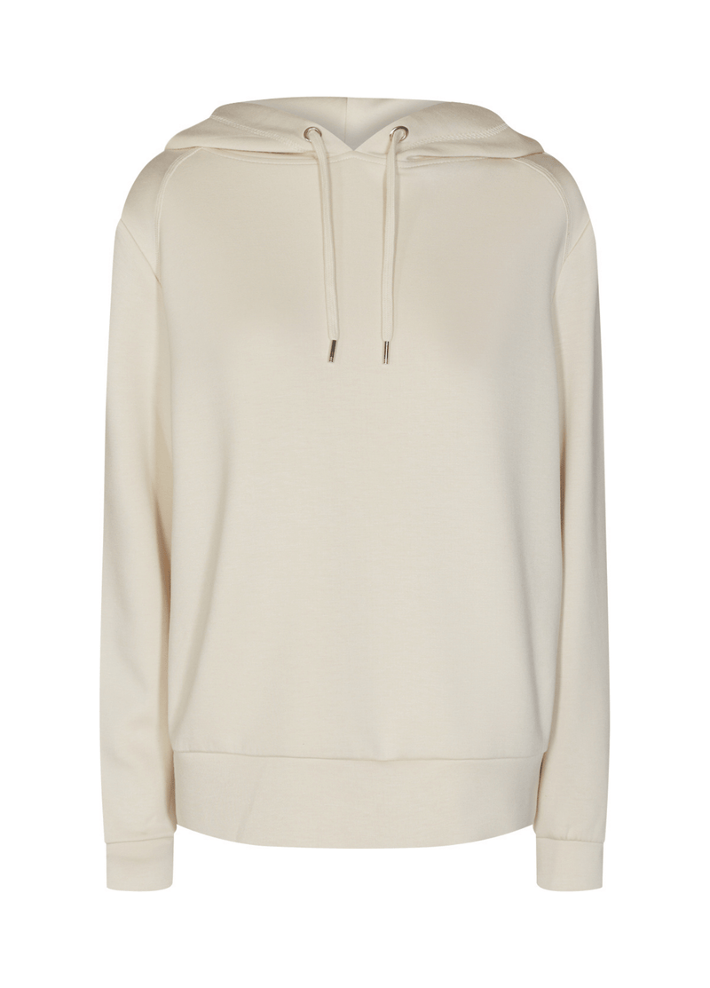 SoyaConcept Banu Soft Ladies Casual Cream Hoodie Jumper - Ribbon Rouge