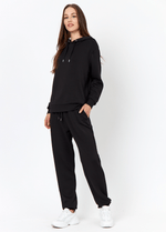 SoyaConcept Banu Womens Tracksuit Casual Stay Home Trousers In Black - Ribbon Rouge
