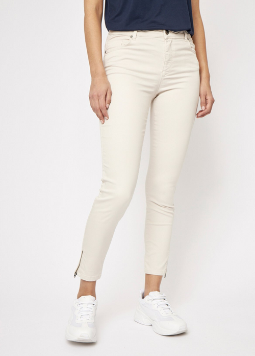 Soya Concept Shadi Sand Slim Fit Zip Detail Jeans
