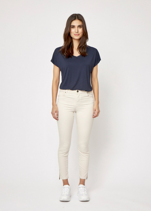 Soya Concept Shadi Sand Slim Fit Zip Detail Jeans - Ribbon Rouge Boutiques