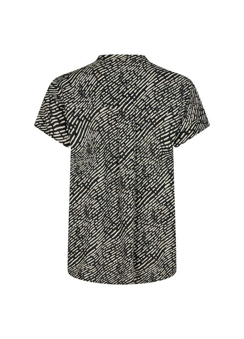 Soya Concept Short Sleeve Top With Black Print From Behind