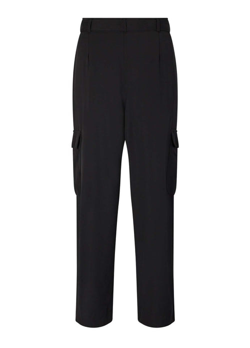 Soyaconcept Gabi Black Womens Utility Trousers From The Back