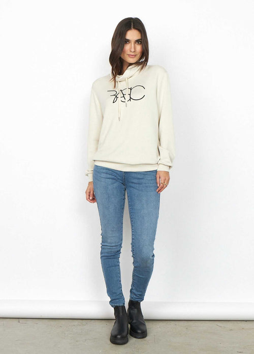 Soyaconcept-Banu-Cream-Womens-Casual-Hoodie-Top-Slogan-Jumper-Worn-With-Jeans