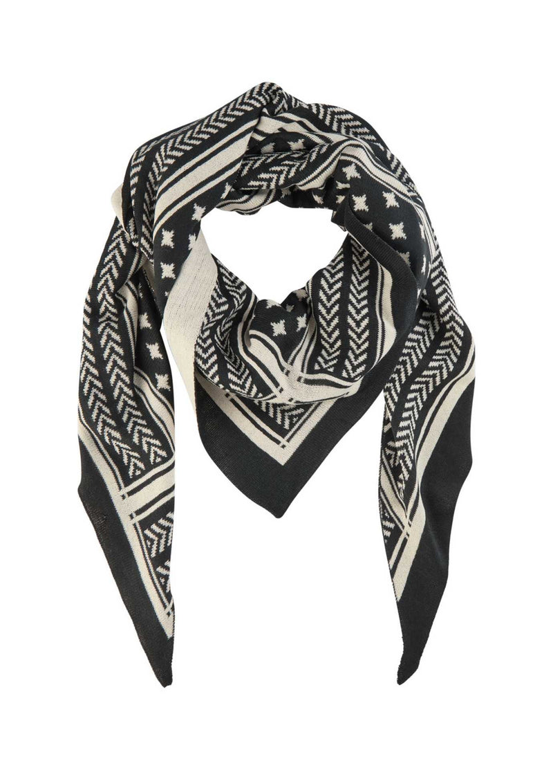 Soyaconcept-50978-Buket-Cream-And-Black-Printed-Scarf