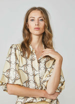 Summum-Woman-2S2577-11383-Retro-Dinosaur-Print-Shirt-With-Puff-Sleeve