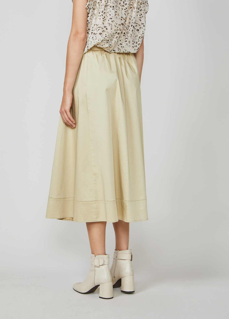 Summum-Woman-6S1197-11381-Beige-Long-Skirt-With-Pockets-From-Back