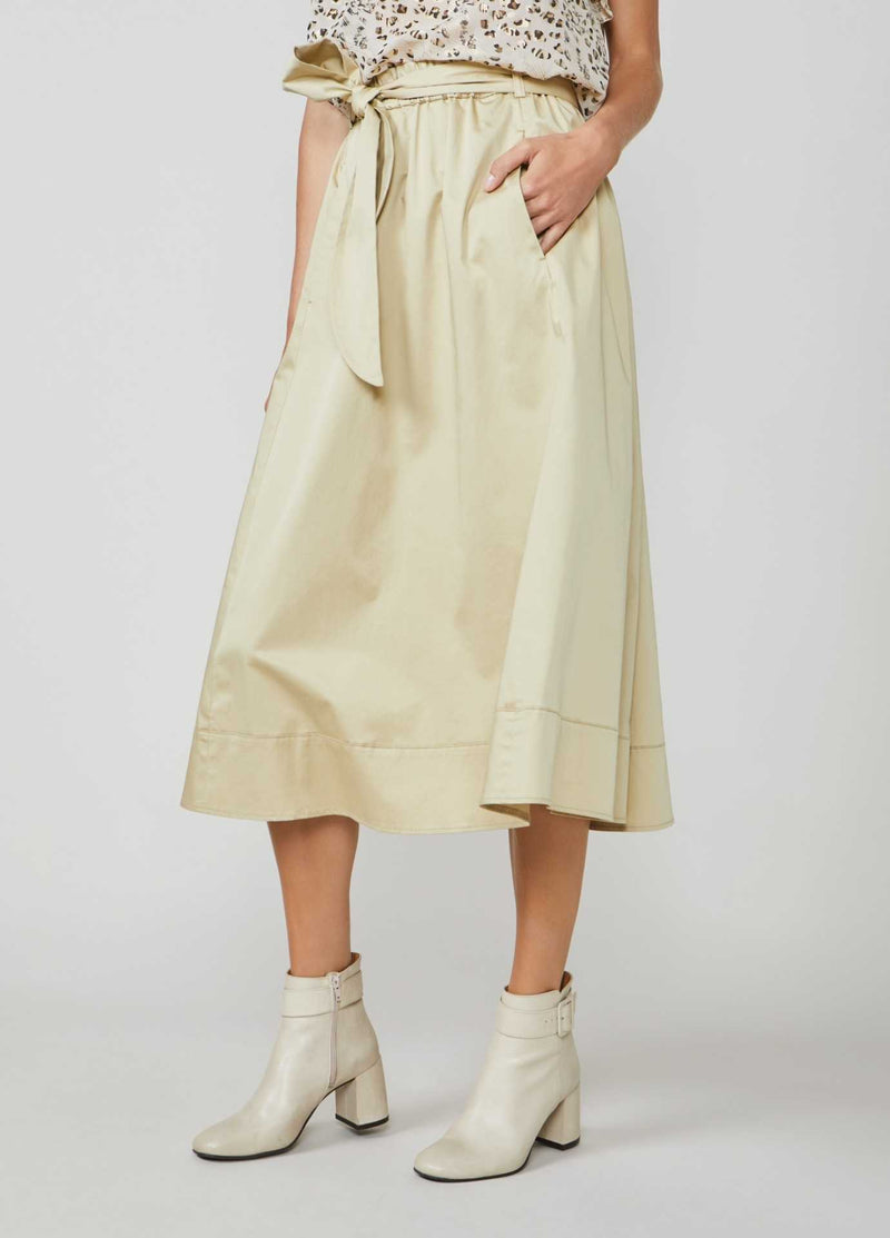 Summum-Woman-6S1197-11381-Beige-Midi-Length-Skirt-With-Pockets