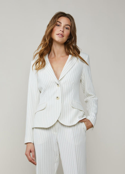 Summum-Woman-Fitted-Ivory-Pinstripe-Blazer-1S1026-11353-Ribbon-Rouge-Ireland