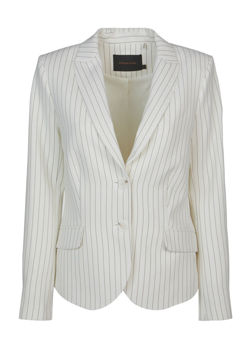 Summum-Woman-Fitted-Ivory-Pinstripe-Blazer-1S1026-Ribbon-Rouge-Online