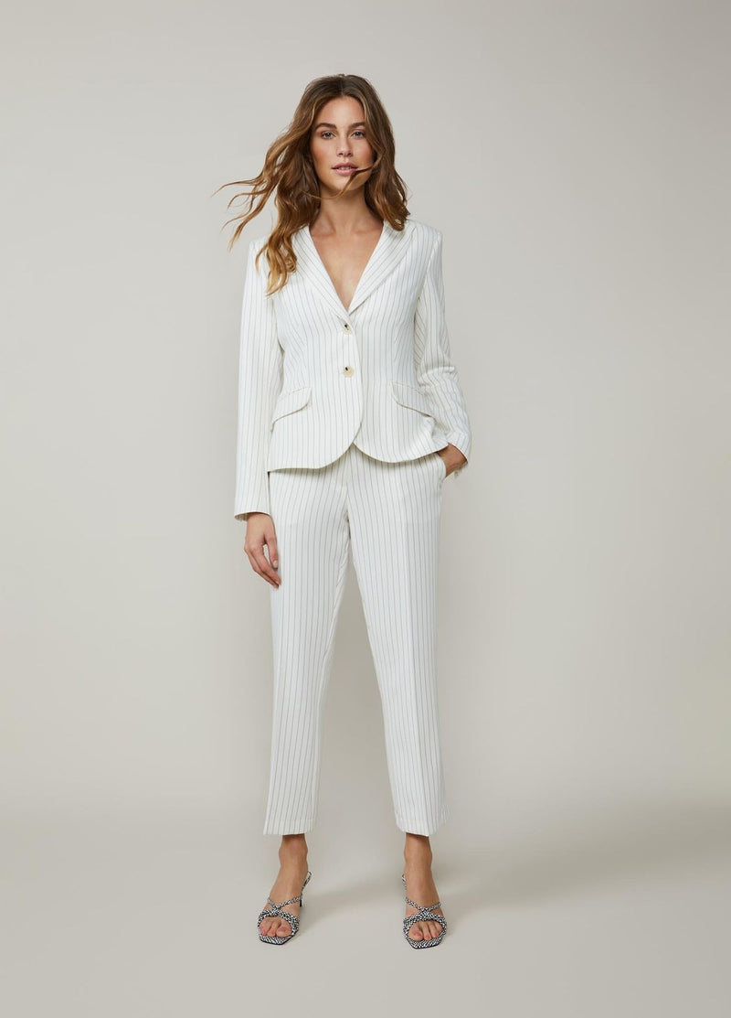 Summum-Woman-Fitted-Ivory-Pinstripe-Blazer-1S1026-Ribbon-Rouge