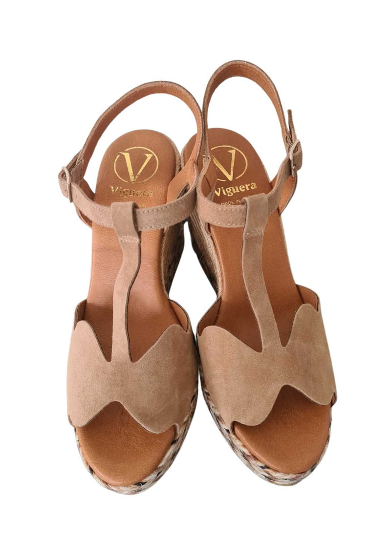 Viguera-1821-Nude-Womens-High-Peep-Toe-Espadrille-Shoes-From-top