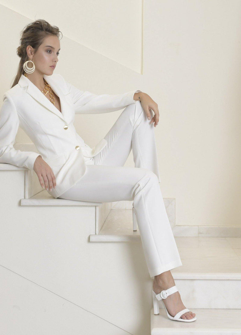 Estel tailored suit trousers off white