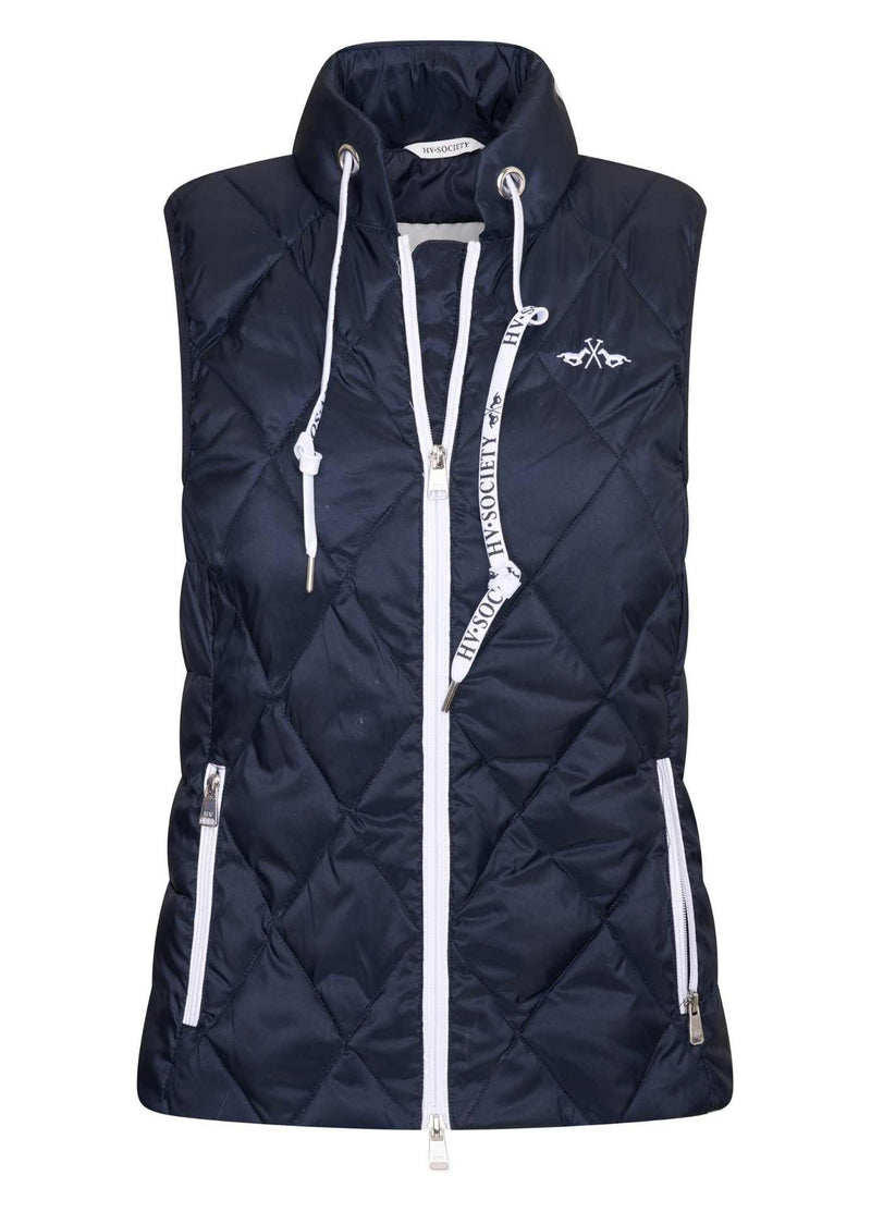 hv polo 0405103300 flagstad navy womens body warmer gilet