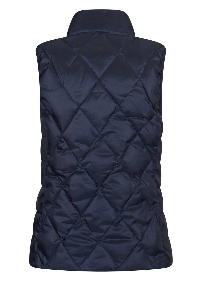 hv polo 0405103300 flagstad navy womens sleeveless jacket from back