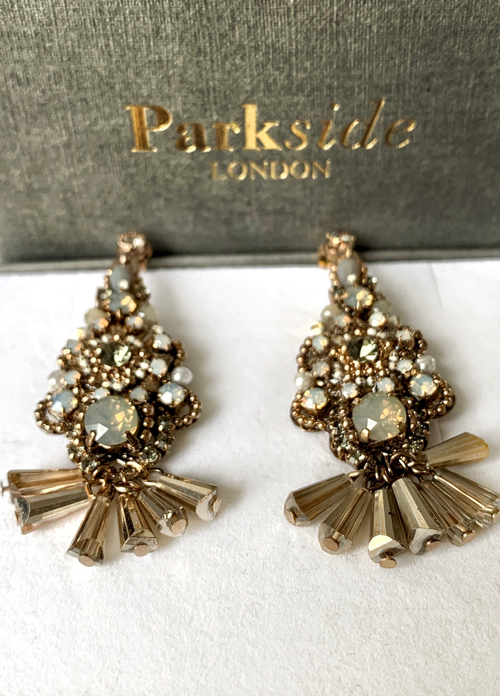 Parkside London Handmade Beaded Drop Earrings - Ribbon Rouge Boutiques