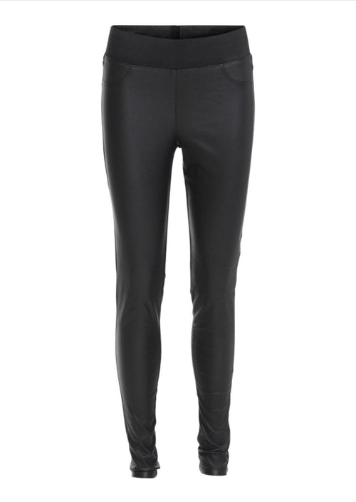 Soya Concept Pam Wet Look Leggings - Ribbon Rouge Boutiques