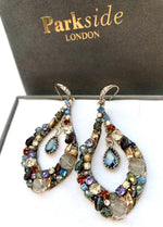 Handmade Multi-coloured Mixed Teardrop Earring - Ribbon Rouge Boutiques