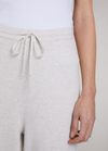 Oui Off-White Knit Wide Leg Trousers