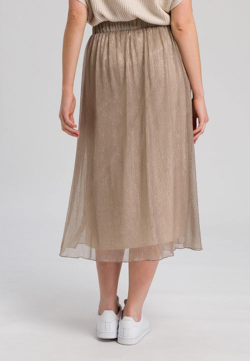 Marc Aurel Gold Lurex Tulle Skirt - Ribbon Rouge Boutiques